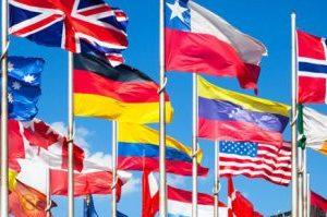 imagen de varias banderas nacionales