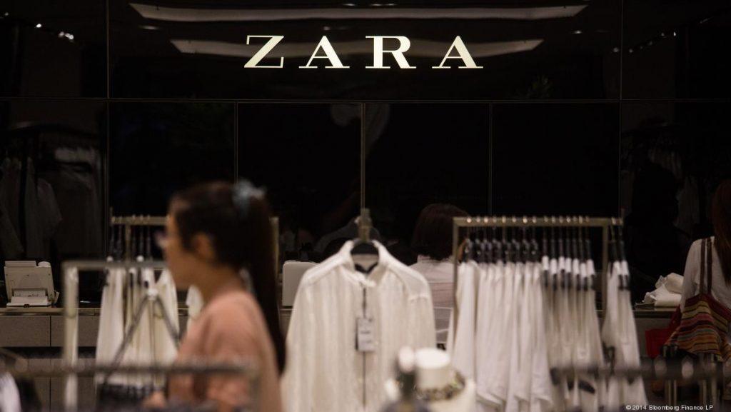 imagen de una tienda de Zara