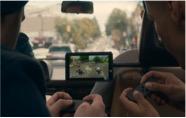 pantalla táctil en un coche
