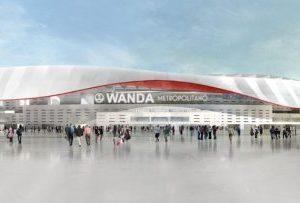 Proyecto del nuevo aspecto del estadio del Athletico de Madrid Vicente Calderon, ahora Wanda Metropolitano